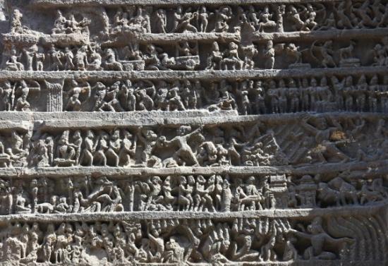 Ellora, อินเดีย: This is the Ramayana panel