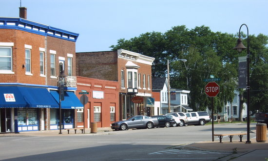 Spring Green, WI: Lexington St Shopping area