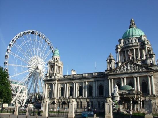 belfast city hall and wheel.