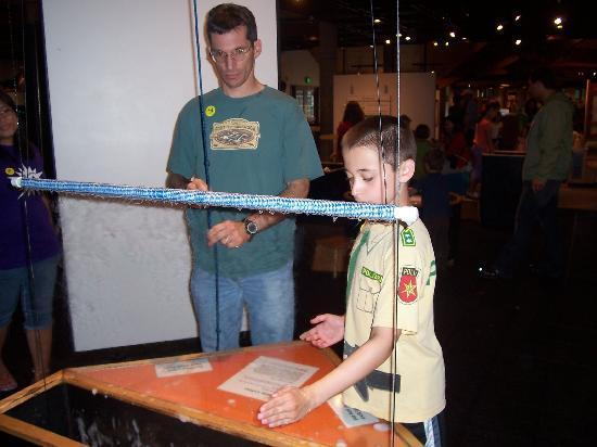 Montshire Museum of Science: surface tension - learned from bubbles!