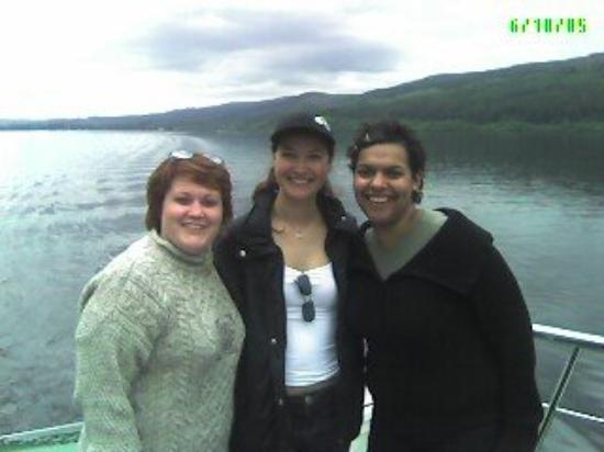 On the tour of Loch Ness, Scotland, I met other women backpacking alone.  They were from Brazil
