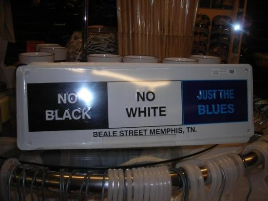 Beale Street: blues sign on Beale St.