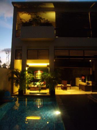 Alam Warna: Villa at night (partial view)