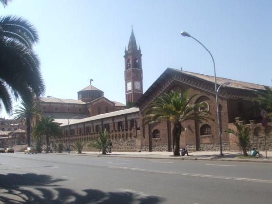 Cathedral of Asmara : Cathedral, the most famous spot in Asmara, Eritrea.