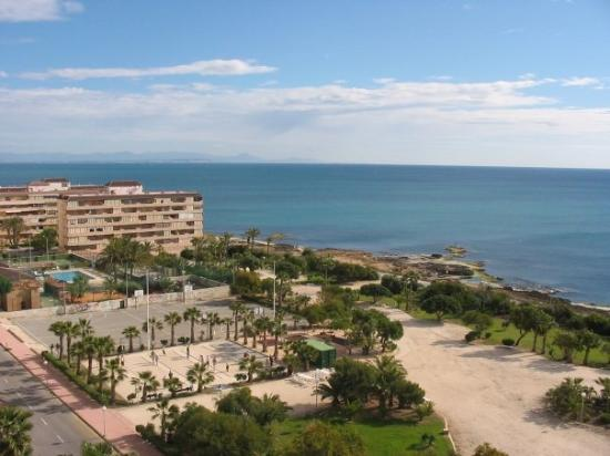 Hotel Playas de Torrevieja: And it was a good choice, at least judging on the view from the hotel room's balcony. :)