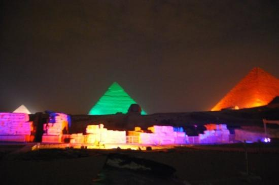Pyramids show: we are going technicolour here....