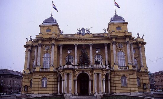 Croatian National Theatre in Zagreb : Kroatisches Volkstheater, Zagreb