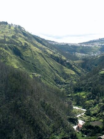 San Cristobal, Ecuador: View from the climbing spot in Quito