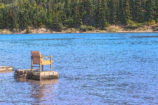 Edmonton, Canada: Observation Chair on North Saskatechewan River