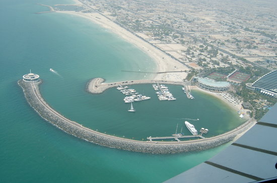 Dubai, De forente arabiske emirater: Blick aus dem Burj Al Arab