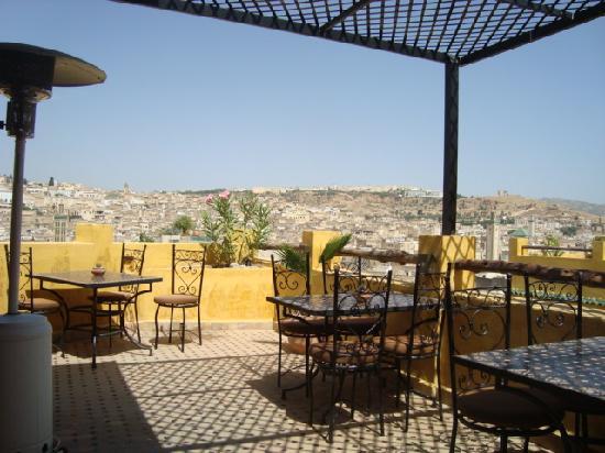 Riad Le Calife: Impresionantes vistas.Julio 09