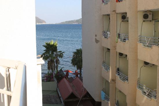 Yuvam Hotel: view to the left of balcony