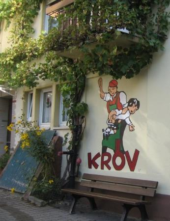 Krov, Germany: Kröv, het dorpslogo ...