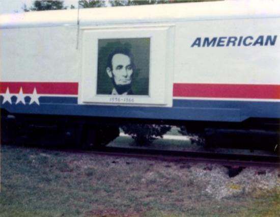 Newport News, VA: Freedom Train at Newpot News, Virginia (1976).  Lincoln car.