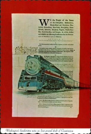 Newport News, VA: Post Card, Freedom Train at Newpot News, Virginia (1976).