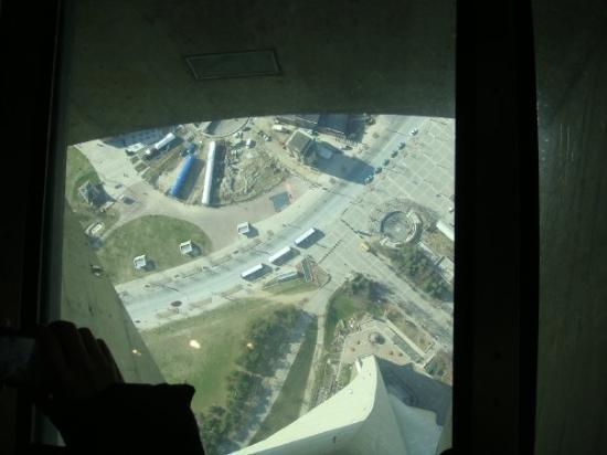 CN Tower Glass Floor - Picture of