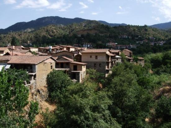 Kakopetria, Chipre: Troodos, Katopetria, The Mill Hotel's view