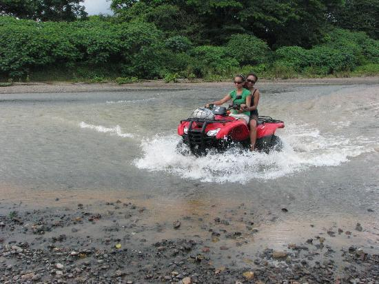 Villas Hermosas: Crossing river on ATV trip