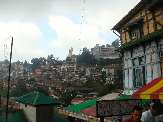 Wildflower Hall, Shimla in the Himalayas: View from Shimla Mall