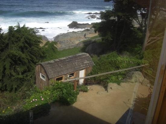 Isla Negra, ชิลี: vista desde la pared de vidrio del dormitorio de la casa de pablo neruda