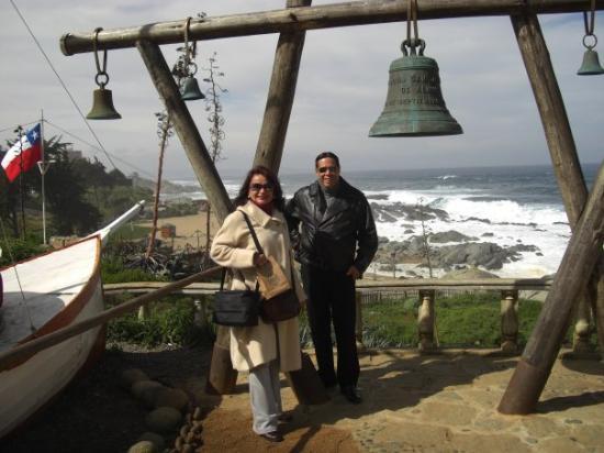 Isla Negra, ชิลี: campana para anunciar a los invitados de la casa de pablo neruda