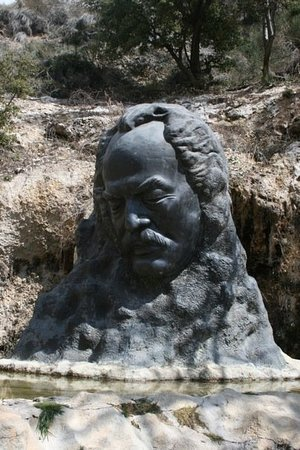 Gibran Museum: Bust of Gibran Khalil near the museum and tomb in Becharre, his birthplace