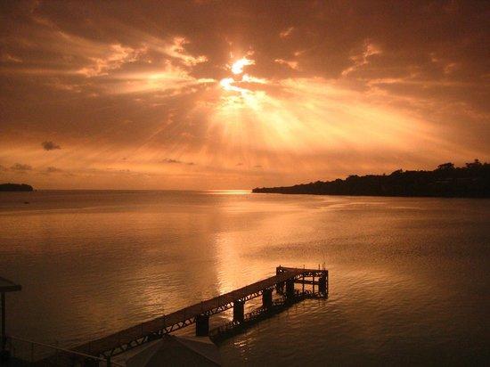 Port Vila, Vanuatu: Sunset from my balcony