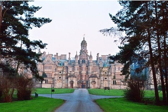 Grantham, UK: Harlaxton Manor - Late Evening