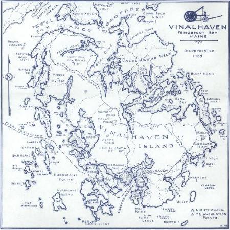 Map of Vinalhaven Island, Maine.