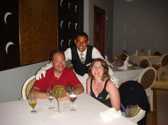 Iberostar Grand Hotel Bavaro: At dinner (& our awesome waiter there)
