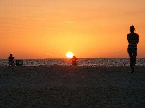 Tampa, FL: Sunset at Clearwater beach