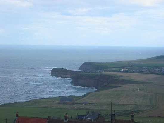 Middlesbrough, UK: Cowbar & Staithes from Boulby Summit looking South