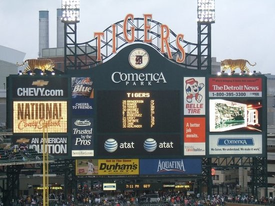 Детройт, Мичиган: Comerica Park - Stop four on the tour