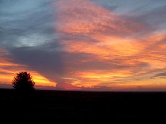 Sunset near Turpin, Oklahoma