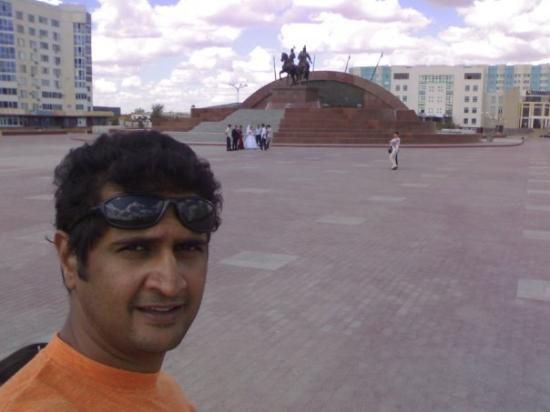 Makhabet Square in Atyrau, Kazakhstan