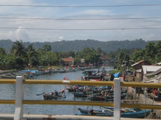 Fisherman settlement at the coastal of Cilacap, December 27, 2008.