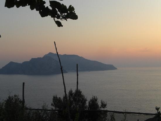 Sant'Agata sui Due Golfi, Itália: Il tramonto