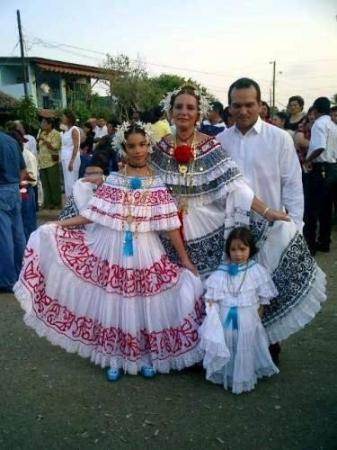 Las Tablas, Panama: Traditional Polleras, the national costume of Panama.