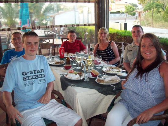 family meal at the jolly roger