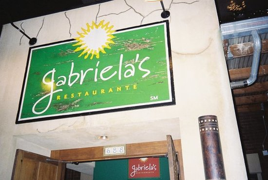 Gabriela's restaurant, where I went out for dinner with my cousins!  It had good food too.