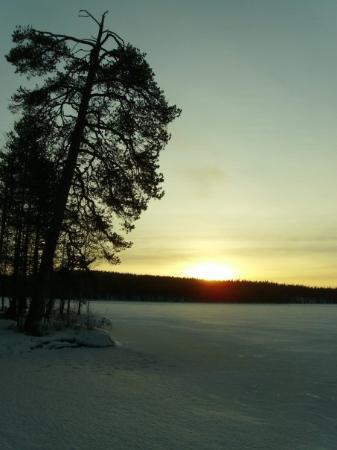 Nurmes, ฟินแลนด์: Frozen lake