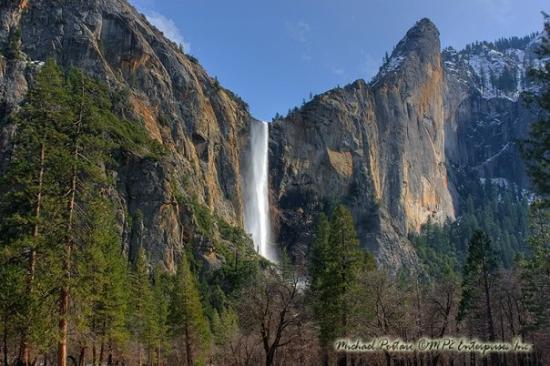Bridalveil Falls: Bridal Veil Falls, Yosemite National Park, March 2009
