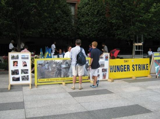 Lafayette Square : 14th day of a hunger strike against Ahmadinajad (sp?).  This is protest central, but there were