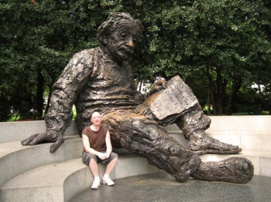 Albert Einstein Memorial: My favorite.  He has this funny look on his face, sitting there in his sweats and sandals.  Kids
