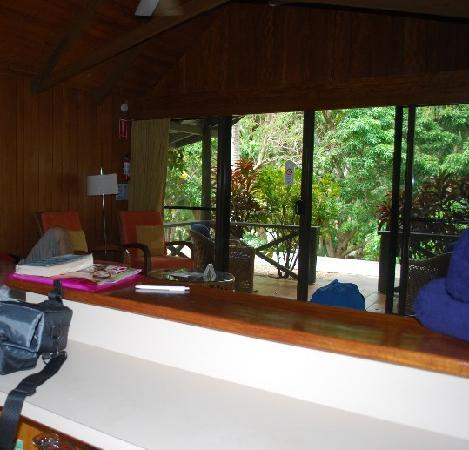 Palm Bungalows: View from kitchen to outside
