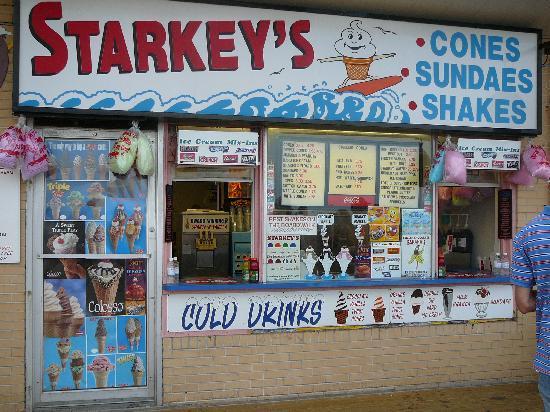 Starkey S Cones Take Out Window Rehoboth Beach Boardwalk