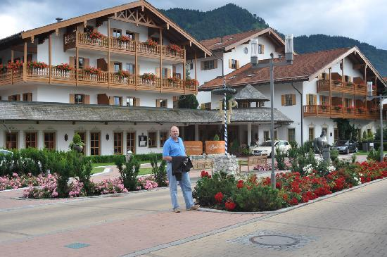 Rottach-Egern, Germany: The main building seen from one of the buildings across the street, where our room was.