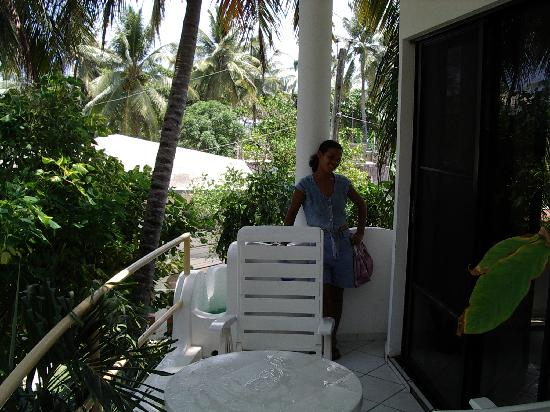 Caribe Surf Hotel: terrasse de ma chambre