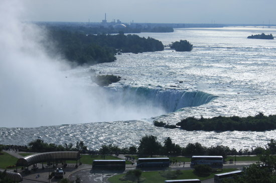 Niagara Falls Marriott on the Falls: Morning  sun view