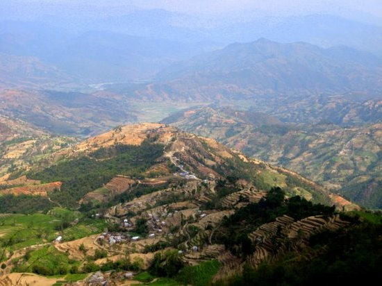 Nagarkot, เนปาล: View from the outside the restaurant